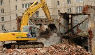 Демонтаж и снос кирпичных домов